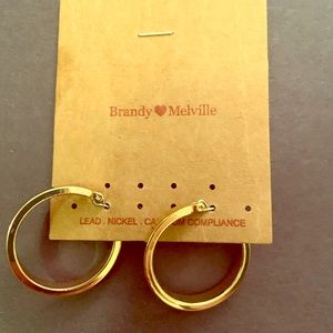 NWT Brandy Melville Gold Hoops